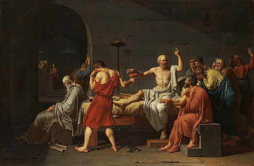 495px David   The Death of Socrates